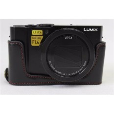 PU Leather Half Body Set Cover Tas Kamera Bawah Case FITS ForPanasonic Lumix LX10 L-X10 Kamera-Intl