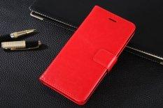 PU Kulit Dompet Mewah Flip Stand Cover Case untuk BBK VIVO V3 Y53 Y53T (Merah)-Intl