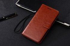 PU Kulit Dompet Mewah Flip Stand Cover Case untuk Samsung GALAXY Grand 2 Duo G7106 G7102 (Brown) -Intl