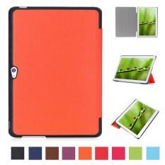PU Kulit Multi-Folding Stand Case Pelindung Smart Sleep Cover untuk Huawei MediaPad M2 A01L/A01M/A01W 10 Inch (Orange) -Intl