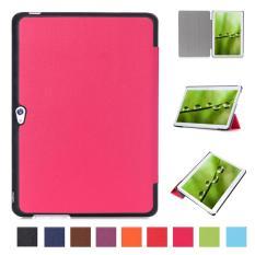 PU Kulit Multi-Folding Stand Case Pelindung Smart Sleep Cover untuk Huawei MediaPad M2 A01L/A01M/A01W 10 Inch (Rose Merah) -Intl