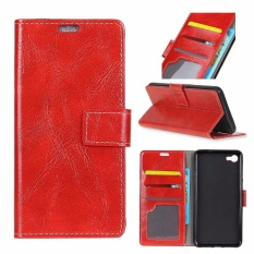 PU Leather Retro Wallet Case Cover for Alcatel One Touch Idol 5S 5.2 (Red) - intl