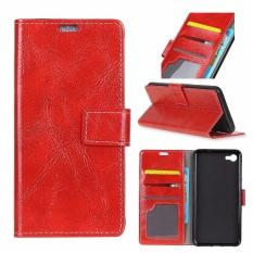 PU Kulit Retro Dompet Case Cover untuk Alcatel One Touch Idol 5 S 5.2 (Merah)-Intl