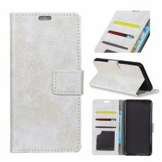 PU Kulit Retro Dompet Case Cover untuk Alcatel One Touch Idol 5 S 5.2 (Putih)-Intl
