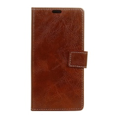 PU Leather Retro Wallet Case Cover for Sharp Android One X1 (Brown) - intl