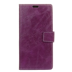 PU Leather Retro Wallet Case Cover for Sharp Android One X1 (Purple) - intl