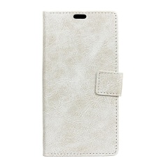 PU Leather Retro Wallet Case Cover for Sharp Android One X1 (White) - intl