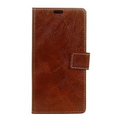 PU Leather Retro Wallet Case Cover for Sharp Aquos Sense SHV40 SH-01K (Brown) - intl
