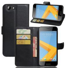 PU Kulit Slim Berdiri dengan Kartu dan Pemegang Dompet untuk HTC A9S-Intl