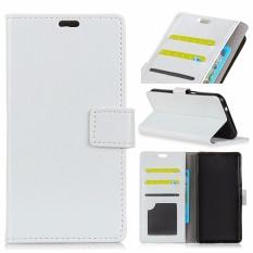 PU Kulit Dompet Case Cover untuk Alcatel One Touch Idol 5 S 5.2 (Putih)-Intl