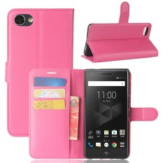 PU Leather Wallet Case Cover for BlackBerry Motion (Rose) - intl