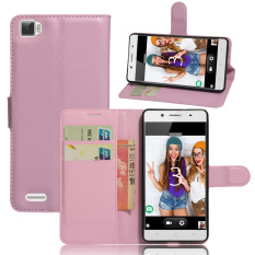 PU Leather Wallet Case Cover For Cubot X17S (Pink) - intl