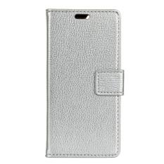 Dompet Kulit PU Case Sarung Anda Lenovo K8 Plus (Perak)-Internasional