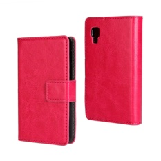 PU Leather Wallet Case Cover for LG Optimus L4 II(Rose)