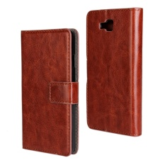 PU Leather Wallet Case Cover for LG Optimus L9 II(Brown) - intl