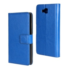 PU Leather Wallet Case Cover for LG Optimus L9 II(Dark Blue) - intl