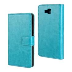 PU Kulit Dompet Case Cover untuk LG Optimus L9 II (Biru Muda)-Intl
