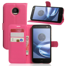 PU Kulit Dompet Case Cover untuk Motorola MOTO Z (Rose)