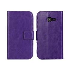 PU Dompet Kulit Case Cover untuk Samsung Tren Duo Galaksi II S7572 (Ungu)-Intl