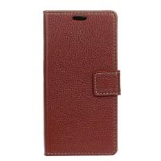 PU Leather Wallet Case Cover for Sharp Aquos Sense SHV40 SH-01K (Brown) - intl