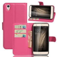 PU Leather Wallet Case Cover for ZTE blade V7 max (Rose) - intl
