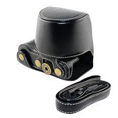 Promo Pu Pelindung Tas Kamera Kulit Kasus Aksesori Dengan Tali Bahu Untuk Sony A5000 A5100 Nex 3N Hitam Intl