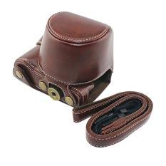 PU Pelindung Tas Kamera Kulit Kasus Aksesori dengan Tali Bahu untuk Sony A5000 A5100 NEX 3N Kopi-Intl