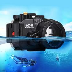 PULUZ 40 M Underwater Kedalaman Menyelam Casing Tahan Air Kamera PERUMAHAN untuk SONY A6300 (Hitam)-Intl