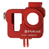 Katalog Puluz Housing Shell Cnc M With Insurance Frame And Lens Cap For Gopro Hero4 3 Red Puluz Terbaru