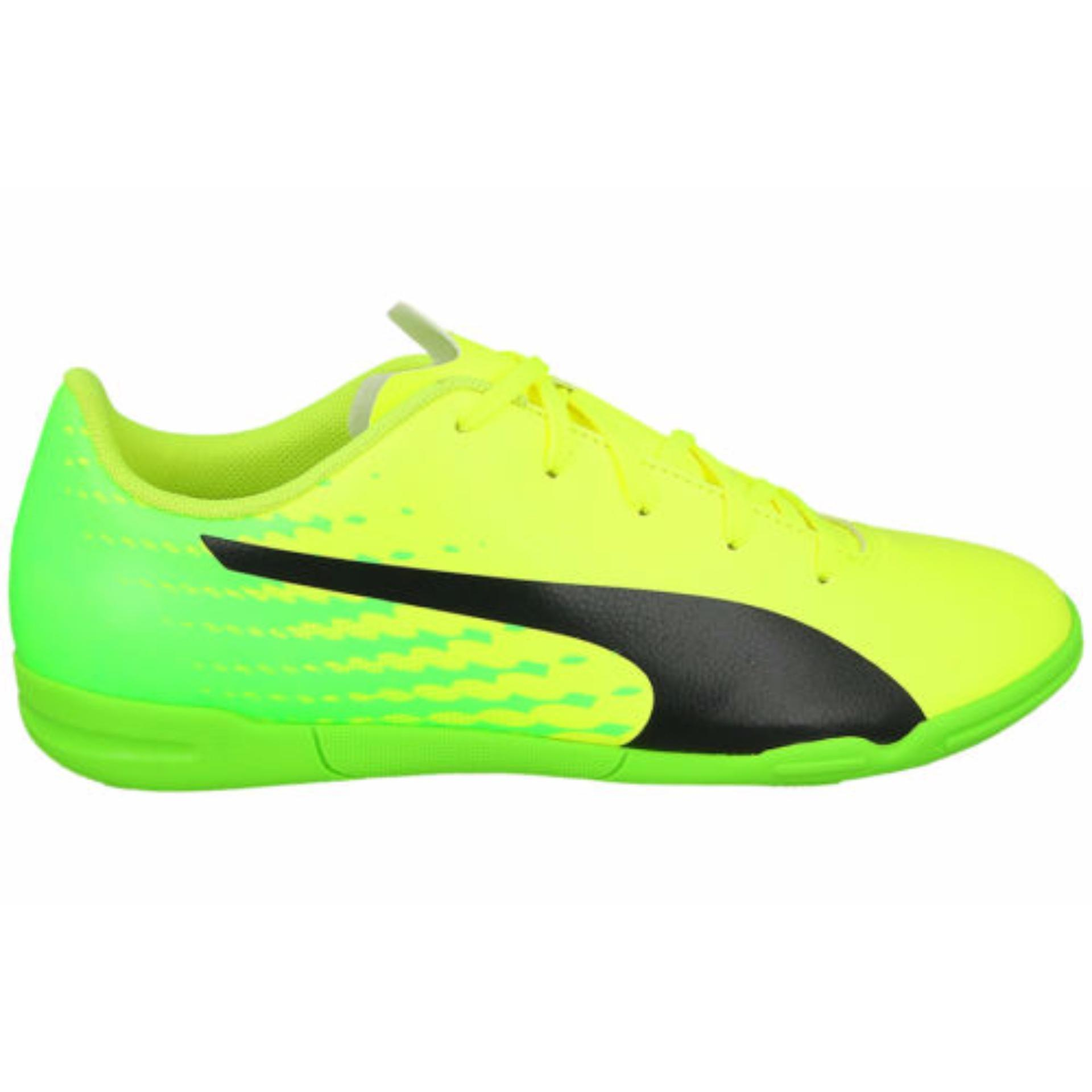 Toko Puma Evospeed 17 5 It Sepatu Futsal Yellow Black Green 104027 01 Murah Indonesia