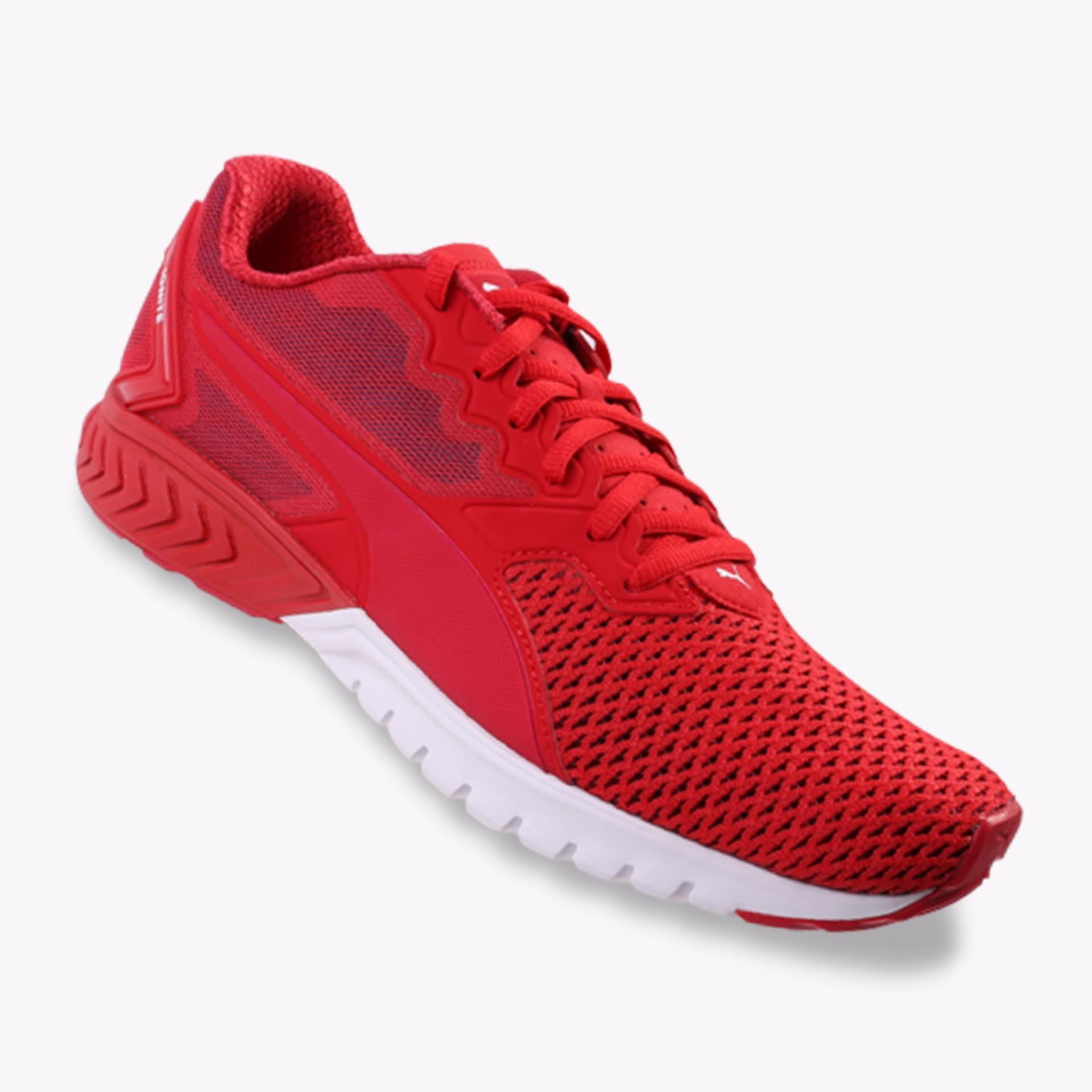 Puma Ignite Dual Mesh Men S Running Shoes Merah Puma Diskon 50