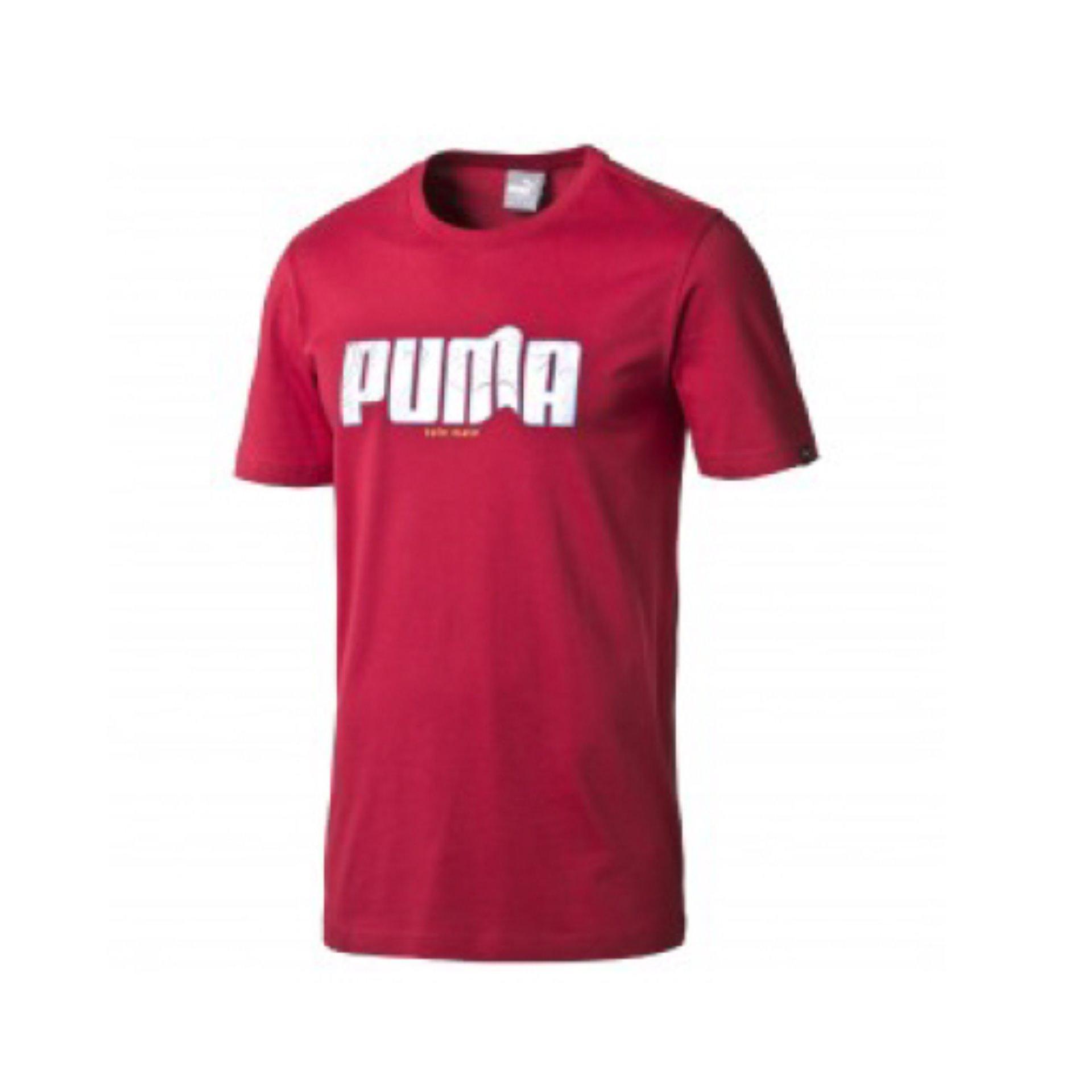 Puma kaos Sneaker Logo Tee - 83440818 - Merah