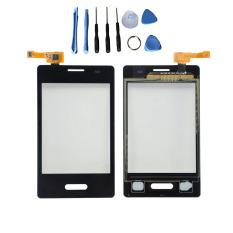Puncaknya 24 Layar Sentuh Digitizer Lensa Kaca For LG Optimus L3 II E425 E430 + Alat