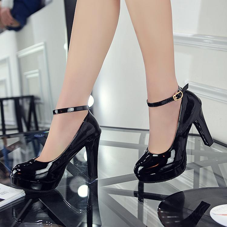 Harga Putaran Gesper Huruf Yi Kulit Paten Putri Sepatu Korea Fashion Style Sepatu Hitam Sepatu Wanita Flat Shoes Di Tiongkok