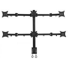 PWR + 6-Monitor-Stand LED-LCD-Desk-Mount-Clamp untuk Enam Layar -Hexa Hingga 21-inch-Heavy-Duty Sepenuhnya-Adjustable-ergonomic-Jenis-Internasional