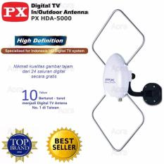 PX HDA -5600 Antena Indoor & Outdoor Digital DVBT2 High Definition - PUTIH