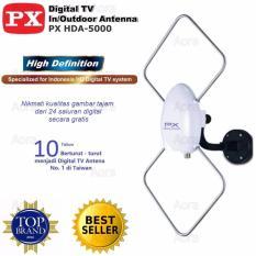 PX HDA -5600 Antena Indoor & Outdoor Digital DVBT2 High Definition - PUTIH