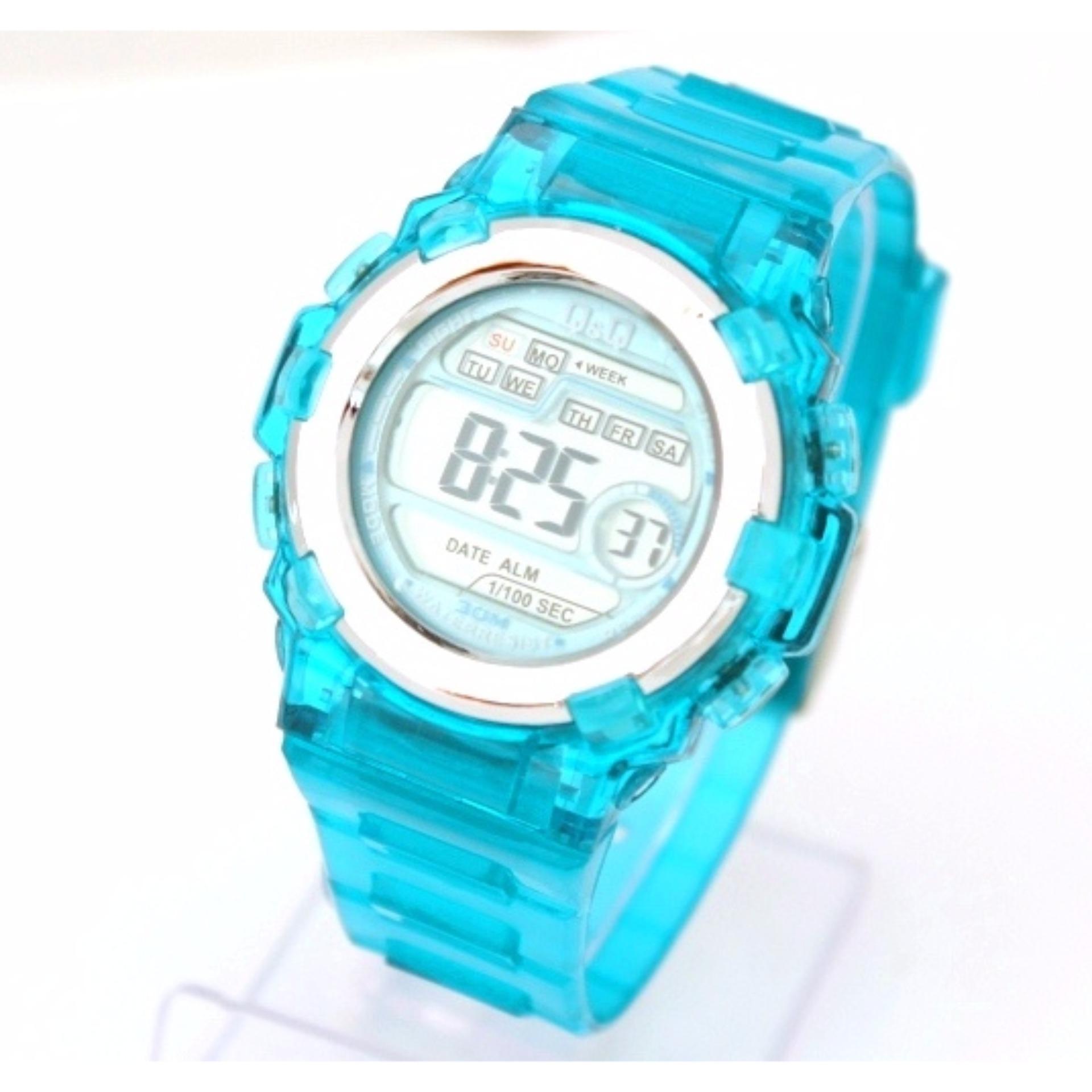 The Cheapest Price Lasika Pilot Jam Tangan Anak Pria Rubber Strap Cowo Qq Watch 8854z Transparan Wanita