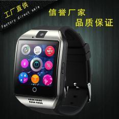 Q18 Bluetooth Smart Watches Dapat Dimasukkan Ke Dalam Kesehatan Pemantauan Mendukung Facebook Sendiri NFC Pabrik Langsung-Intl