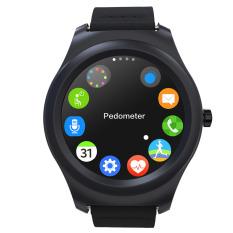 Q2 Bluetooth Smart Jam Tangan Pesan Panggilan Notifier Jam Tangan untuk Apple Android Ponsel PK GT08 dengan Monitor Detak Jantung Fungsi Hitam