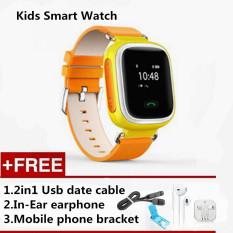Q60 GPS GSM GPRS Smart Watch Reloj Intelligente Locator Tracker Anti-kehilangan Remote Monitor Smartwatch Hadiah Terbaik untuk Anak-anak Anak-anak (Orange) -Intl