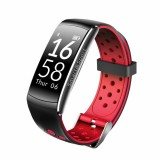 Jual Cepat Q8 Bluetooth Smart Bracelet With Pedometer Heart Rate Monitor Red Intl
