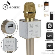 Harga Q9 Bluetooth Microphone Speaker Mic Smule Ktv Karaoke Wireless Mic Baru Murah