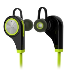 Q9 Nirkabel Bluetooth 4.1 Headset Sport Headphone Earphone (Hijau)-Intl