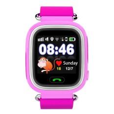 Q90 Gps Layar Sentuh WiFi Selai Tangan Pintar Anak SOS Locationfinderdevice Pelacak Anak Aman Anti Hilang/Samsung (Merah muda) -Internasional