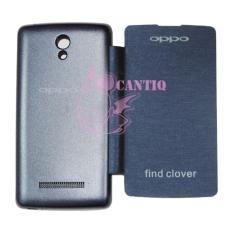 QC Oppo Find Clover R815 Flip Cover Oppo R815 / Leather Case / Sarung Handphone / Sarung Case / Sarung Oppo Find Clover R815 - Biru Tua