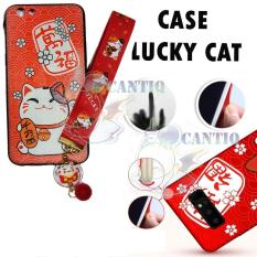 QCF Anti Crack Oppo F3 Plus Karakter Kucing Hoki / Case Oppo F3 Plus Lucky Cat / Casing Karakter Oppo F3+ R9S Plus Maneki Neko / Casing Oppo F3 Plus Maneki Neko Kucing Hoki FREE Kalung Tangan Cute Cat - 2