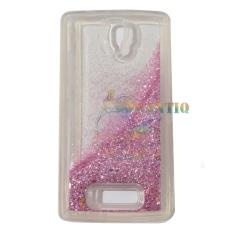 QCF Case Liquid Lenovo A2010 Soft Case Aquarium Glitter / Casing Lenovo A2010 / Silikon Case HP - Pink Muda