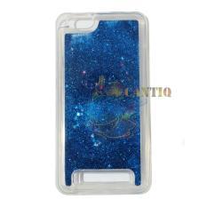 QCF Case Liquid Lenovo Vibe C A2020 Soft Case Aquarium Glitter / Casing Lenovo A2020 / Silikon Case HP – Biru Tua