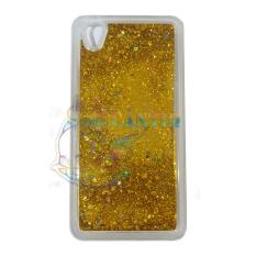 QCF Case Liquid Oppo Neo 9  Soft Case Aquarium Glitter / Casing Oppo A37 Silikon Case HP - Emas